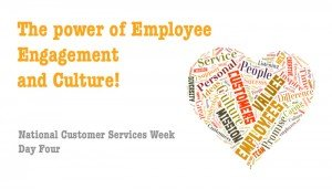 Employee engagement and culture - National Customer Services Week 2015